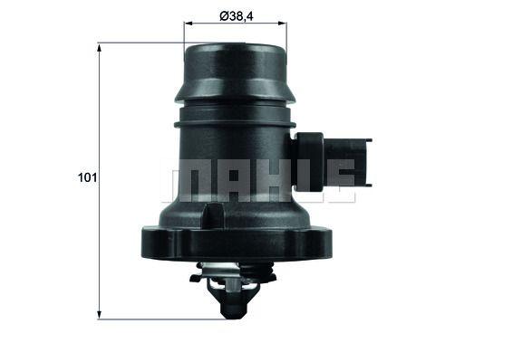 BEHR THERMOT-TRONIK   Thermostat, coolant TM 37 103