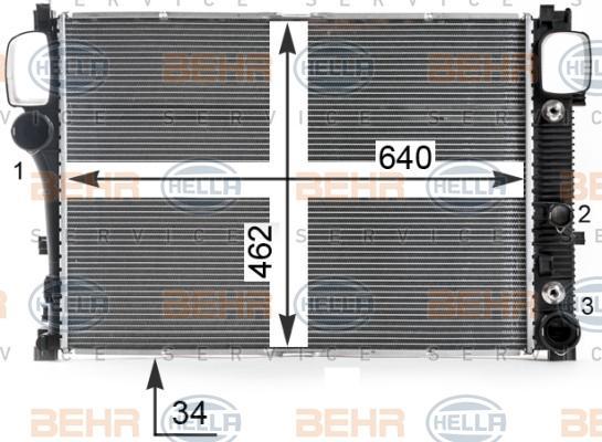 8MK 376 700-614 Kühler HELLA - Markenprodukte billig