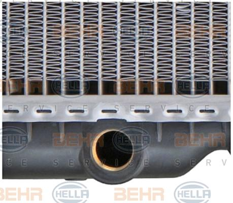 8MK 376 711-284 Kühler Motorkühlung HELLA in Original Qualität