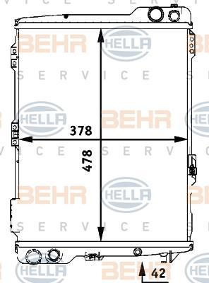 Kühler, Motorkühlung 8MK 376 711-284 von HELLA