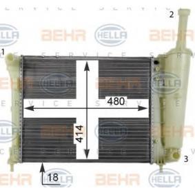 BEHR HELLA SERVICE 8MK 376 767-111 Radiator engine cooling