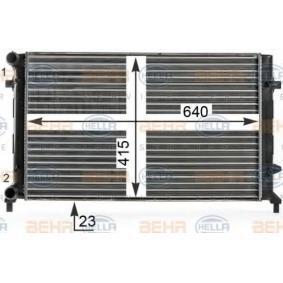 8MK 376 700-494 Kühler Motorkühlung HELLA in Original Qualität