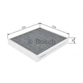 1987435502 Kabineluftfilter BOSCH - Køb til discount priser