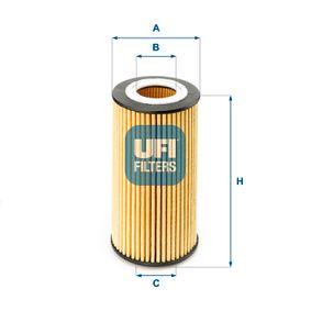 Pirkti 25.154.00 UFI vidinis skersmuo 2: 31,0mm, Ø: 64,0mm, aukštis: 125,0mm Alyvos filtras 25.154.00 nebrangu