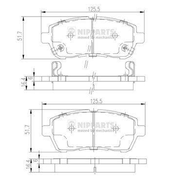 Bremsklötze NIPPARTS N3606022