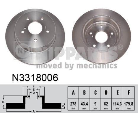 Bremsscheibe NIPPARTS N3318006 Bewertungen