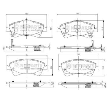 Bremsbelagsatz NIPPARTS N3602133