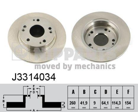 Original JEEP Bremsscheiben J3314034