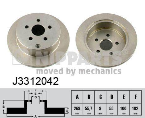 Bremsscheibe NIPPARTS J3312042 Bewertungen