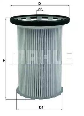 KX 341 Bränslefilter MAHLE ORIGINAL - Billiga märkesvaror