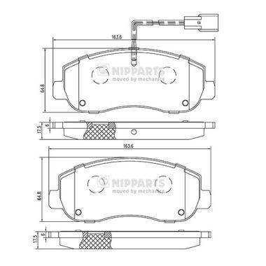 Original OPEL Bremsbelagsatz N3601105