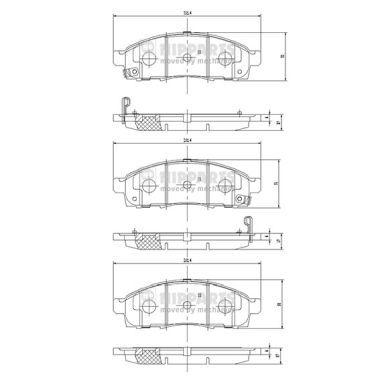 Bremsbeläge NIPPARTS N3601101