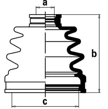 CHEVROLET CORVETTE 2013 Antriebswellen & Gelenke - Original NIPPARTS J2887012 Höhe: 92mm, Innendurchmesser 2: 21mm, Innendurchmesser 2: 71mm