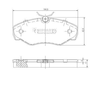 Original OPEL Bremsklötze J3601080