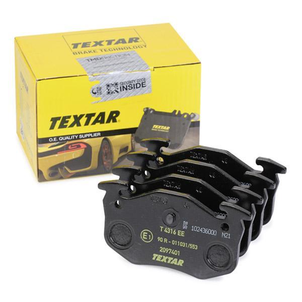 Achetez Plaquettes de frein TEXTAR 2097401 (Hauteur: 54,9mm, Largeur: 105mm, Épaisseur: 11mm) à un rapport qualité-prix exceptionnel