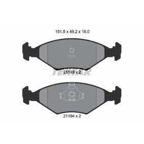 Kit pastiglie freno, Freno a disco 2119301 FIAT DUNA a prezzo basso — acquista ora!