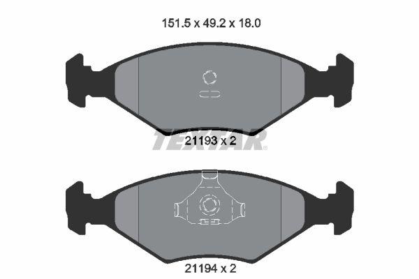 Achetez Tuning TEXTAR 2119301 (Hauteur: 49,2mm, Largeur: 151,5mm, Épaisseur: 18mm) à un rapport qualité-prix exceptionnel