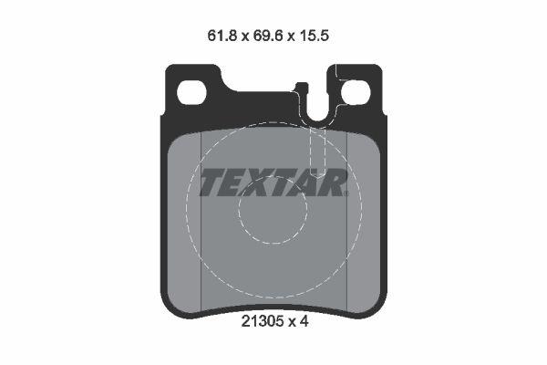 Kit pasticche freni 2130501 con un ottimo rapporto TEXTAR qualità/prezzo