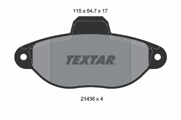 2143602 Bremssteine TEXTAR in Original Qualität