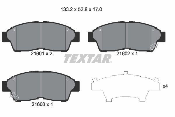 Pasticche freni 2160101 con un ottimo rapporto TEXTAR qualità/prezzo