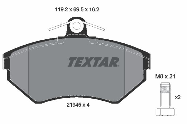 Scheibenbremsbeläge TEXTAR 2194502