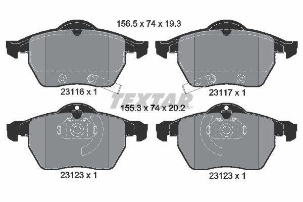 Buy original Brake pads TEXTAR 2311701