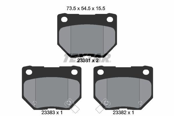 7341D461 TEXTAR mit akustischer Verschleißwarnung Höhe: 54,5mm, Breite: 73,5mm, Dicke/Stärke: 15,5mm Bremsbelagsatz, Scheibenbremse 2338101 günstig kaufen