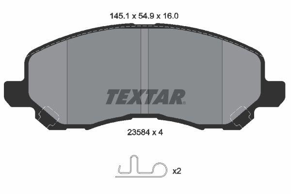2358401 Bremssteine TEXTAR in Original Qualität