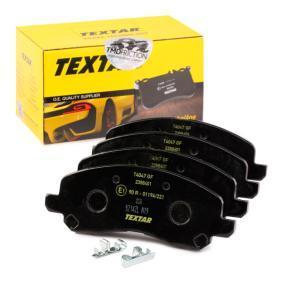 7741D866 TEXTAR mit akustischer Verschleißwarnung Höhe: 54,9mm, Breite: 144,9mm, Dicke/Stärke: 16mm Bremsbelagsatz, Scheibenbremse 2358401 günstig kaufen
