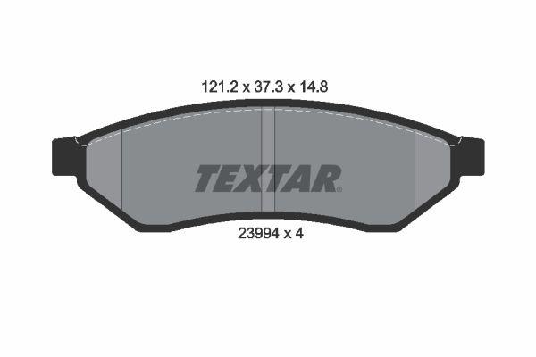 TEXTAR Bremsbelagsatz, Scheibenbremse 2399401