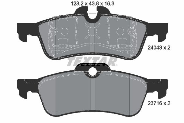 Bremsbelagsatz TEXTAR 2404301
