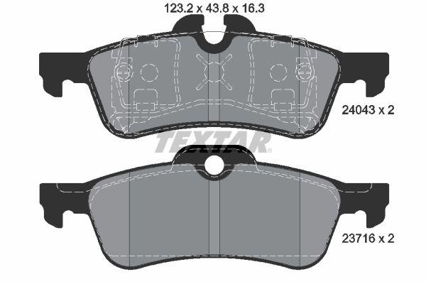 Bremsbelagsatz Scheibenbremse TEXTAR 2404301