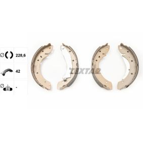 98101052904 TEXTAR Ø: 228,6mm, mit Handbremshebel Breite: 42mm Bremsbackensatz 91052900 günstig kaufen
