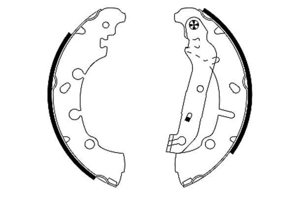 OE Original Bremsbeläge für Trommelbremsen 91057300 TEXTAR