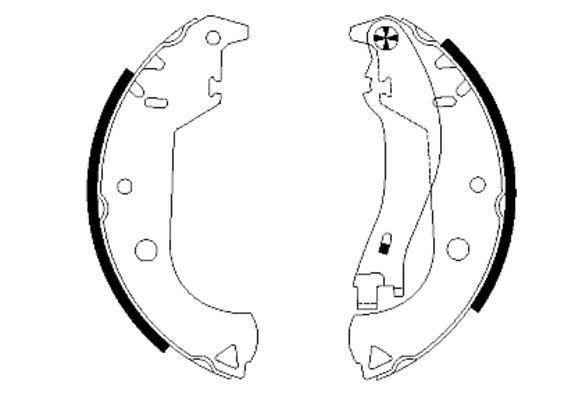 Original FIAT Bremsklötze für Trommelbremse 91059900