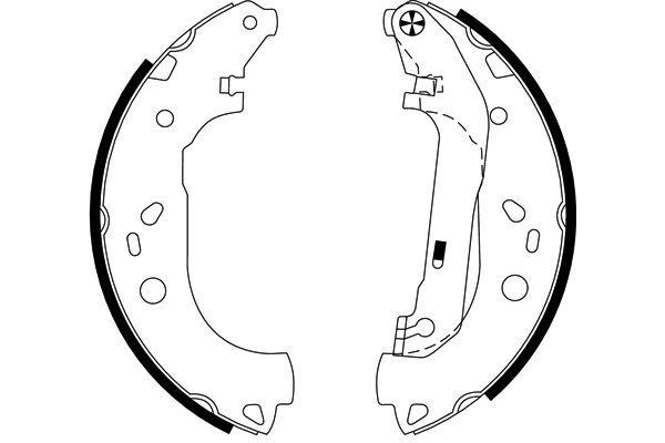 98101061404 TEXTAR Ø: 228,6mm, mit Handbremshebel Breite: 57mm Bremsbackensatz 91061400 günstig kaufen