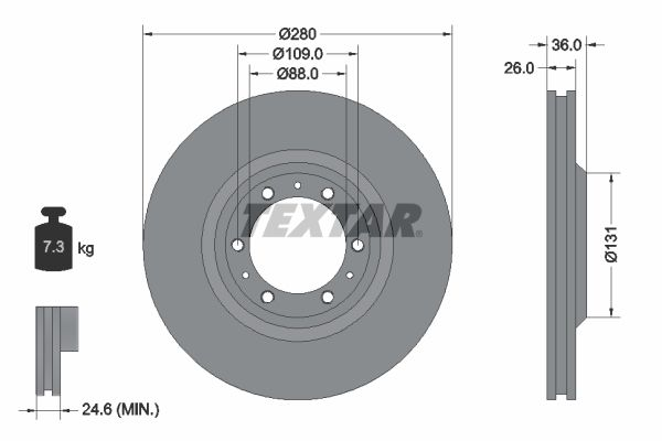 Спирачен диск 92091400 за GREAT WALL ниски цени - Купи сега!