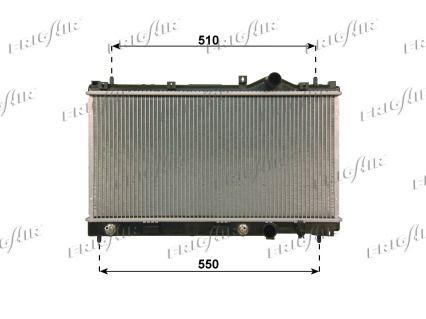 21580024 FRIGAIR Aluminium, Kunststoff Netzmaße: 300 x 600 x 16 mm Kühler, Motorkühlung 0118.3024 günstig kaufen