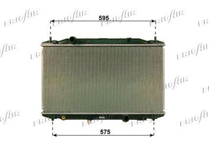 21510031 FRIGAIR Aluminium, Kunststoff Netzmaße: 375 x 670 x 27 mm Kühler, Motorkühlung 0119.3031 günstig kaufen