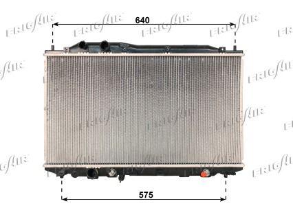 21510033 FRIGAIR Aluminium, Kunststoff Netzmaße: 375 x 670 x 16 mm Kühler, Motorkühlung 0119.3033 günstig kaufen