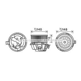 Electromotor, ventilatie interioara PRASCO DA8012 cumpărați și înlocuiți