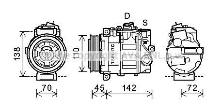 Original MERCEDES-BENZ Kompressor Klimaanlage MSAK615