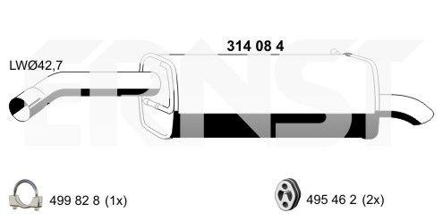 Original MINI Endtopf 314084