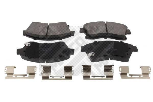 6956 MAPCO Vorderachse, mit akustischer Verschleißwarnung, mit Anti-Quietsch-Blech Höhe: 60,5mm, Breite: 148mm, Dicke/Stärke: 18,5mm Bremsbelagsatz, Scheibenbremse 6956 günstig kaufen