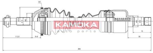 OE Original Antriebswelle CT1138915A KAMOKA