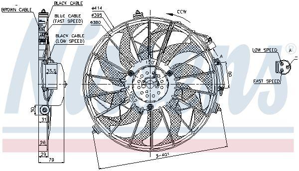 85648 Lüfter, Klimakondensator NISSENS in Original Qualität