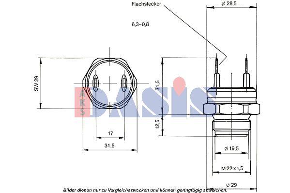 Original AUDI Thermoschalter Lüfter 751409N