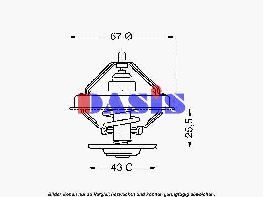 751874N Thermostat AKS DASIS - Markenprodukte billig