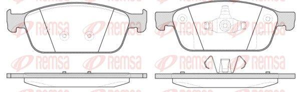 OE Original Bremsklötze 1510.10 REMSA