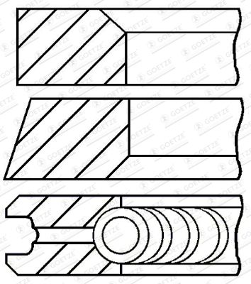 GOETZE ENGINE: Original Kolbenringe 08-123400-30 ()